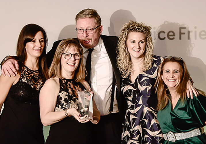Office Friendly's Directors accept the Service Provider of the Year Award